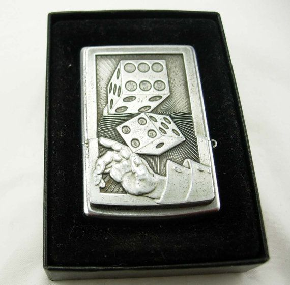 Vintage Lucky 7 Zippo Lighter Fancy Dice Front Birthday