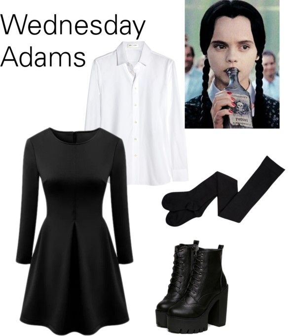 Easy DIY Wednesday Adams halloween costume from clothes you already have  sc 1 st  Pinterest & DIY Closet Costumes for Halloween | Pinterest | Halloween costumes ...