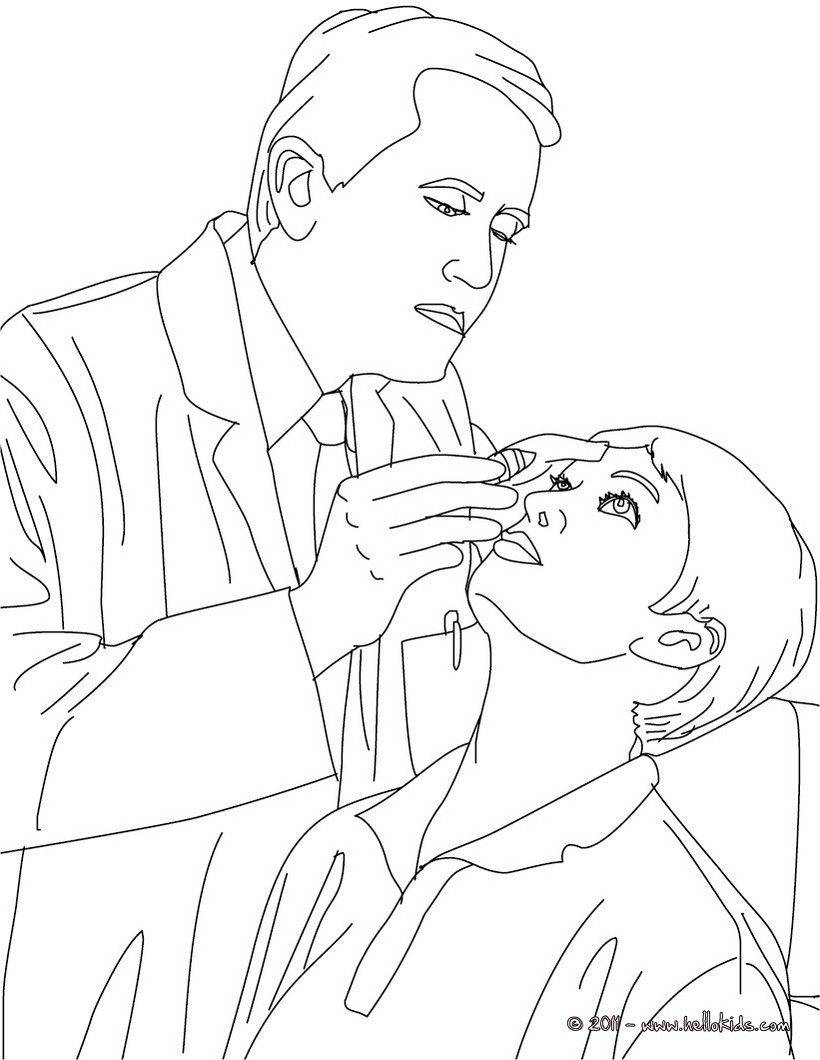 Ophthalmologist doctor coloring page. Amazing way for kids to ...