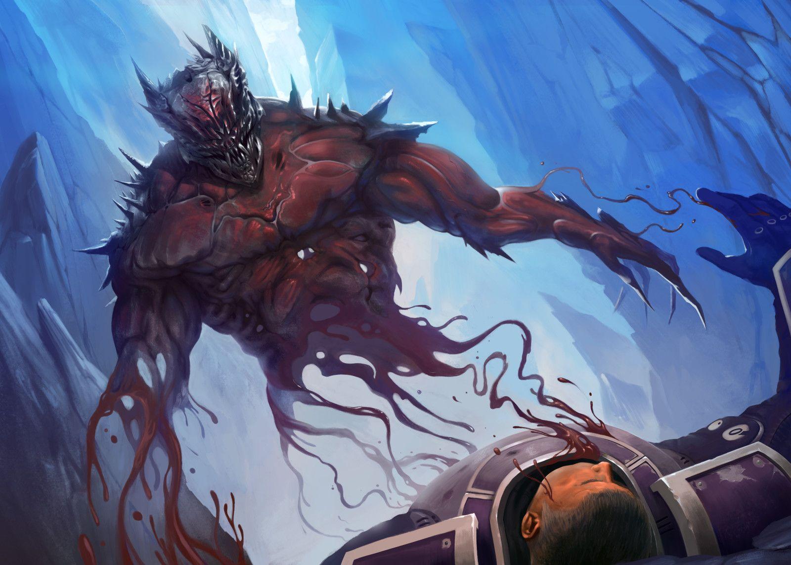 Living nightmare, Evgeniy Vasilin on ArtStation at https://www.artstation.com/artwork/K1yJo