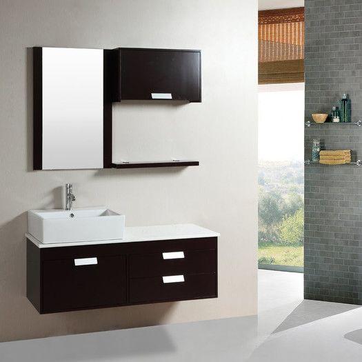 Kokols 51 5 Single Bathroom Vanity Set With Mirror Floating Vanities Black