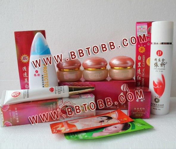 60.00$  Buy now - http://aliagf.worldwells.pw/go.php?t=471863375 - YiQi Beauty Whitening 2+1 Effective In 7 Days (Golden cover set)+Yiqi Sunblock+Yiqi  Whitening Glossing Active Eye Cream 60.00$