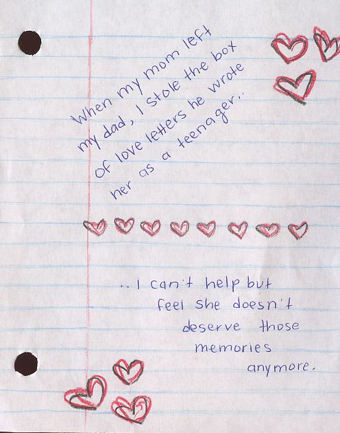 Secret from PostSecret.com Post Secret, The Secret, Feeling Alone, Good Advice