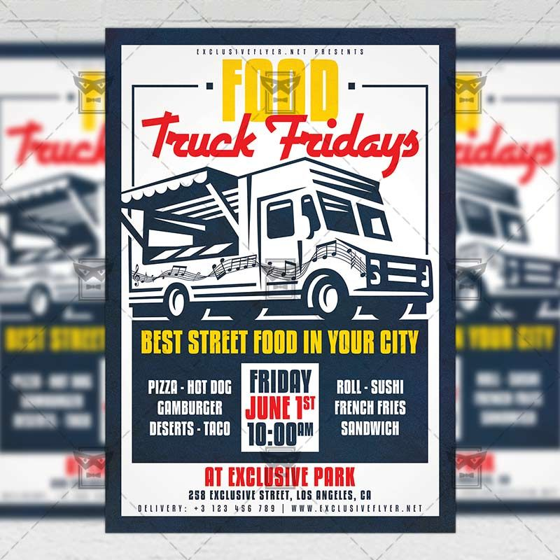 Food truck fridays business a5 template exclusiveflyer