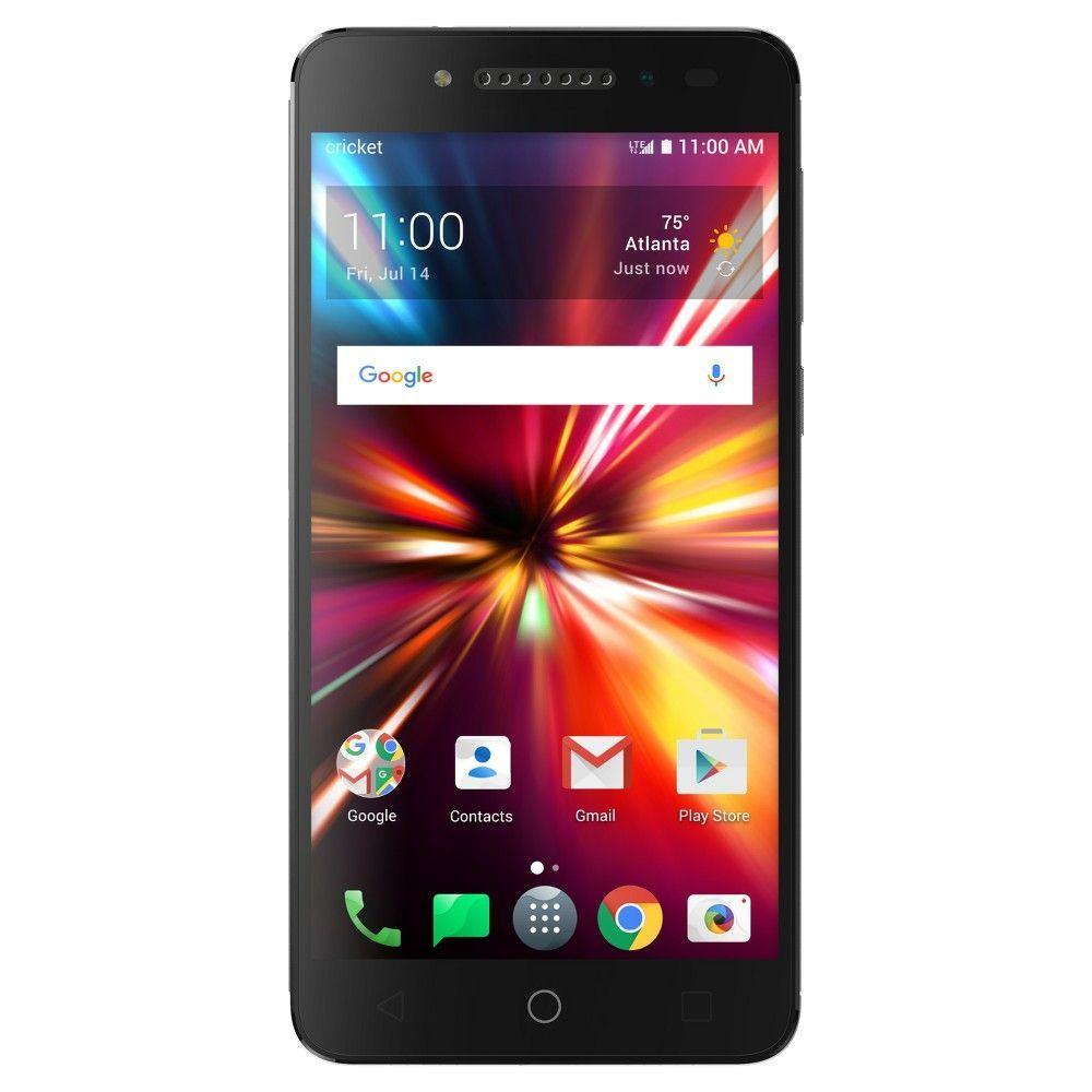 Cricket pulsemix with sound snapbak black smartphone