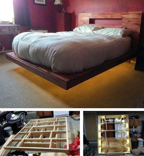bett selber bauen 12 einmalige diy bett und bettrahmen ideen bett bauen schweben und bett. Black Bedroom Furniture Sets. Home Design Ideas