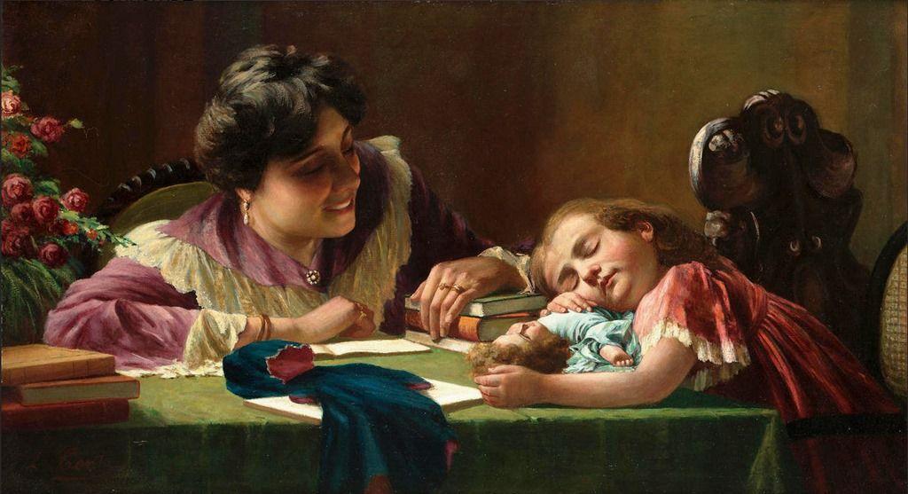 Eugenio Conti (Italian 1842-1909) -Tired out