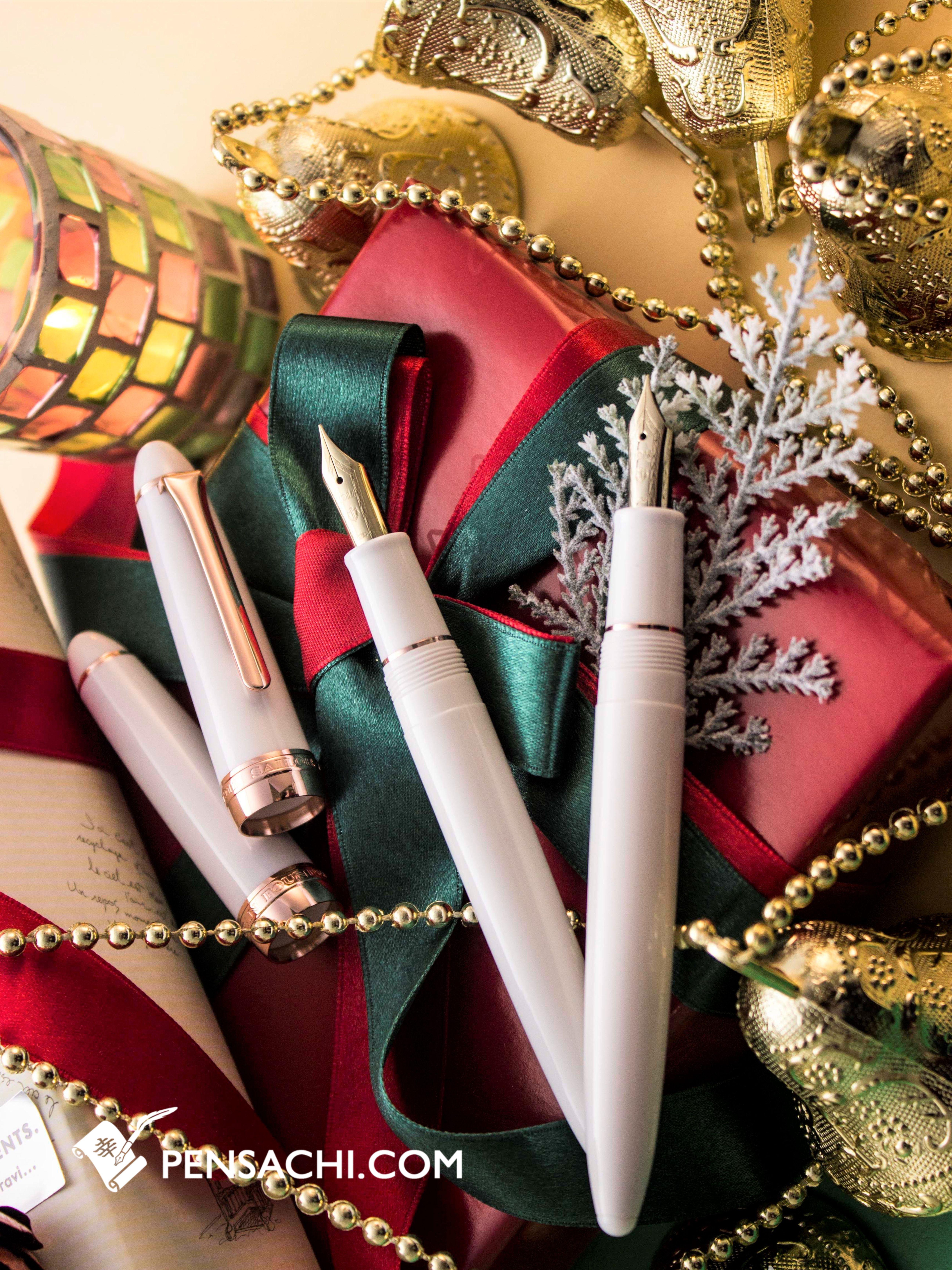 SAILOR Fasciner Fountain Pen - Pearl White | Xmas Gift Ideas