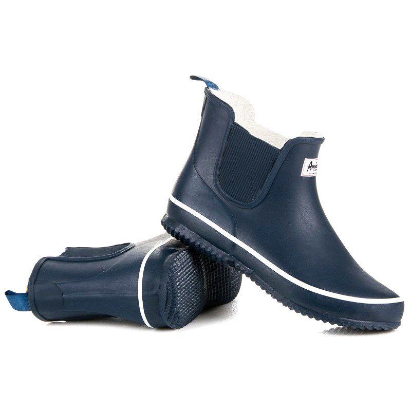 American Club Granatowe Kalosze American Boots Rain Boots Rubber Rain Boots