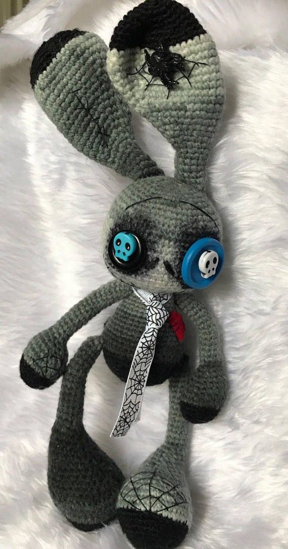 halloween bunny zombie toy gothic dead spider ghost scull | so cute ...
