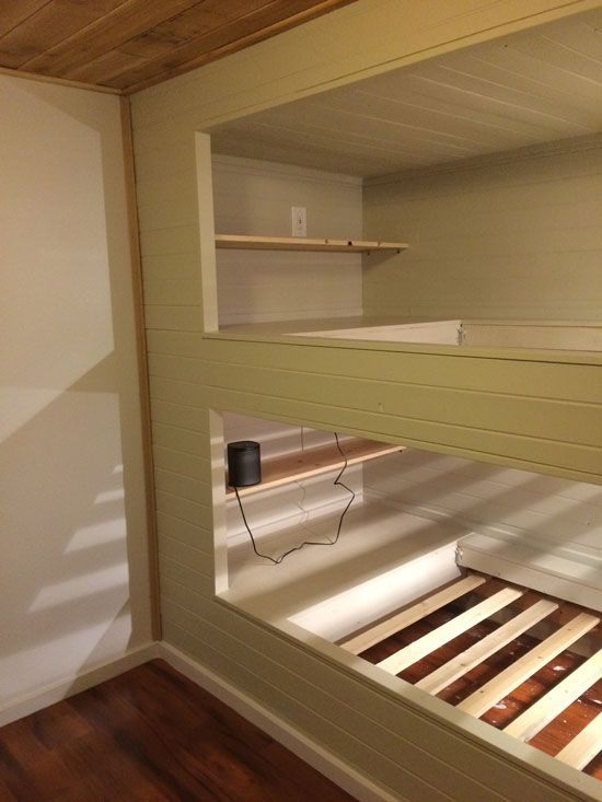 Diy Wall To Wall Built In Bunk Beds And A Full Room Remodel Bunk