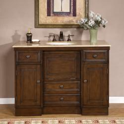 Silkroad Exclusive, Bathroom Vanities, Silkroad Exclusive Single Bathroom  Vanity Hyp 0718 48 In Over 45 Inches