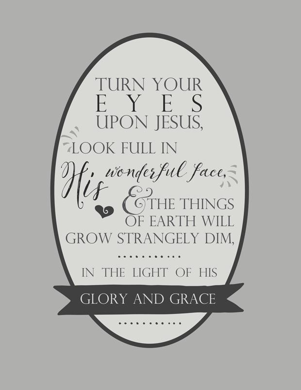 Hymn Lyrics   Turn Your Eyes Upon Jesus   Words Worth Remembering ...