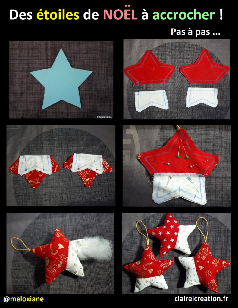 Des Etoiles De Noel A Accrocher Etoile De Noel Noel Couture Noel
