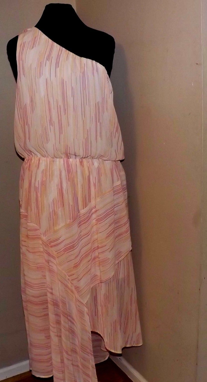 Cato fashions careers - Cool Awesome Yellow And Pink Striped One Shoulder Dress Xs Career Church New Cato Summer 2017