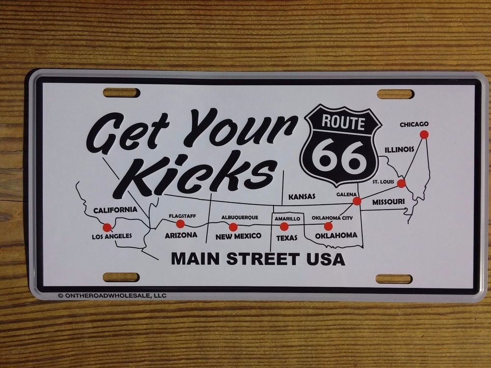 Details about Route U S  66 Highway Get Your Kicks Black 6