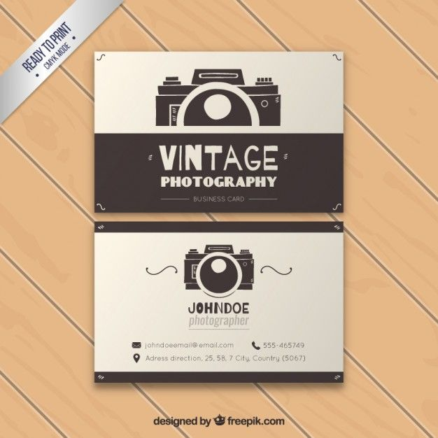 carto de visita a fotografia do vintage photography logo business