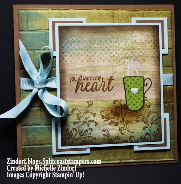 Hug In A Mug Stampin' Up! Card Created By Michelle Zindorf