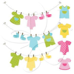 baby clothes line clip art set laundry room decor pinterest rh pinterest com baby shower invitations clipart free baby shower invitation border clipart
