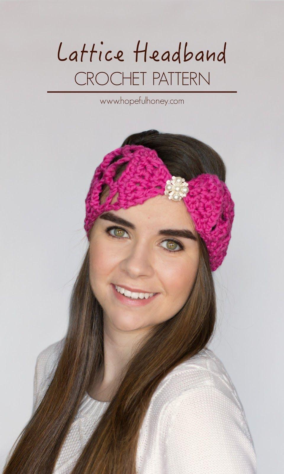 Lacy Lattice Headband Crochet Pattern | Free easy crochet patterns ...