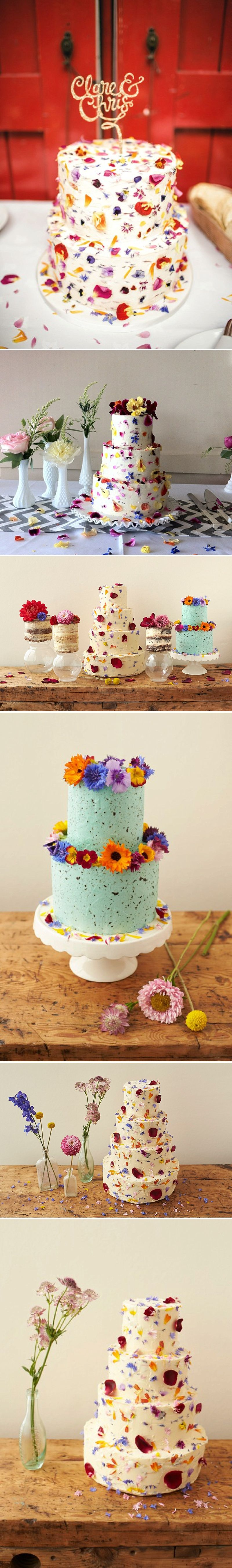 How To Decorate A Wedding Or Celebration Cake With Edible Flowers