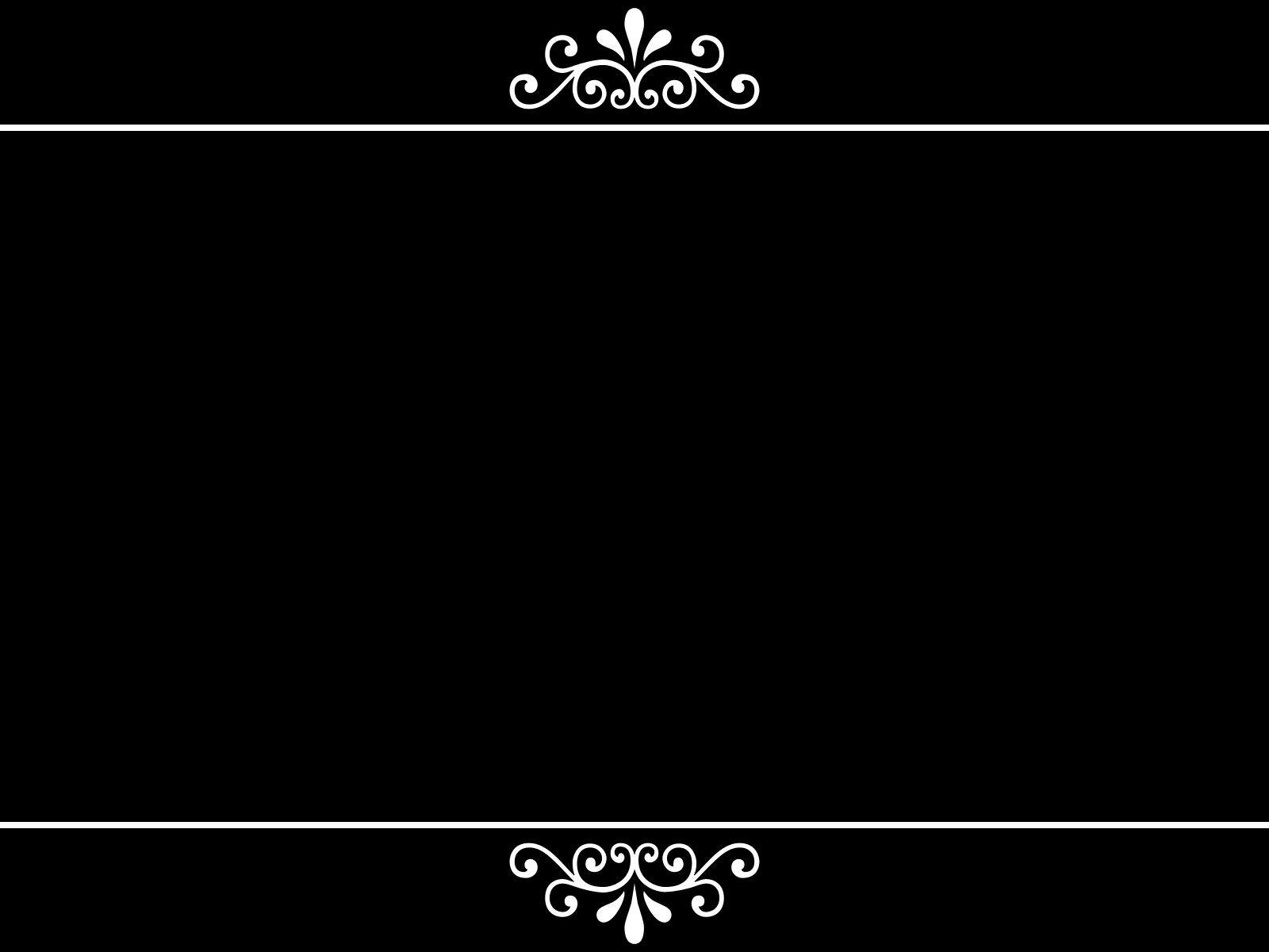Ornament Black Background