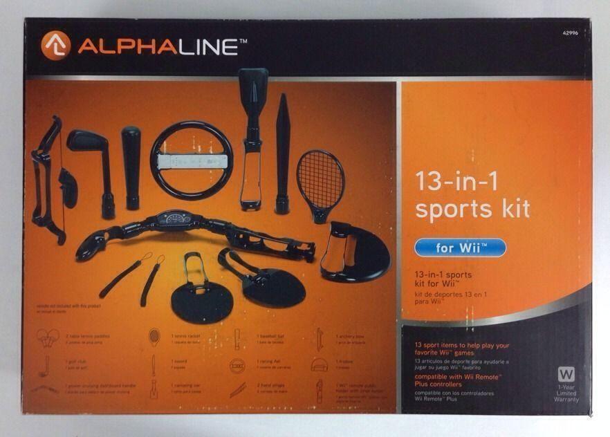 ALPHALINE 13IN1 SPORTS KIT Nintendo WII BAT GOLF CLUB
