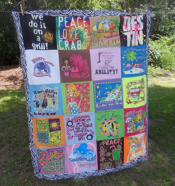 24 TShirt Quilt by SewCrazybyKatieM on Etsy, $110.00