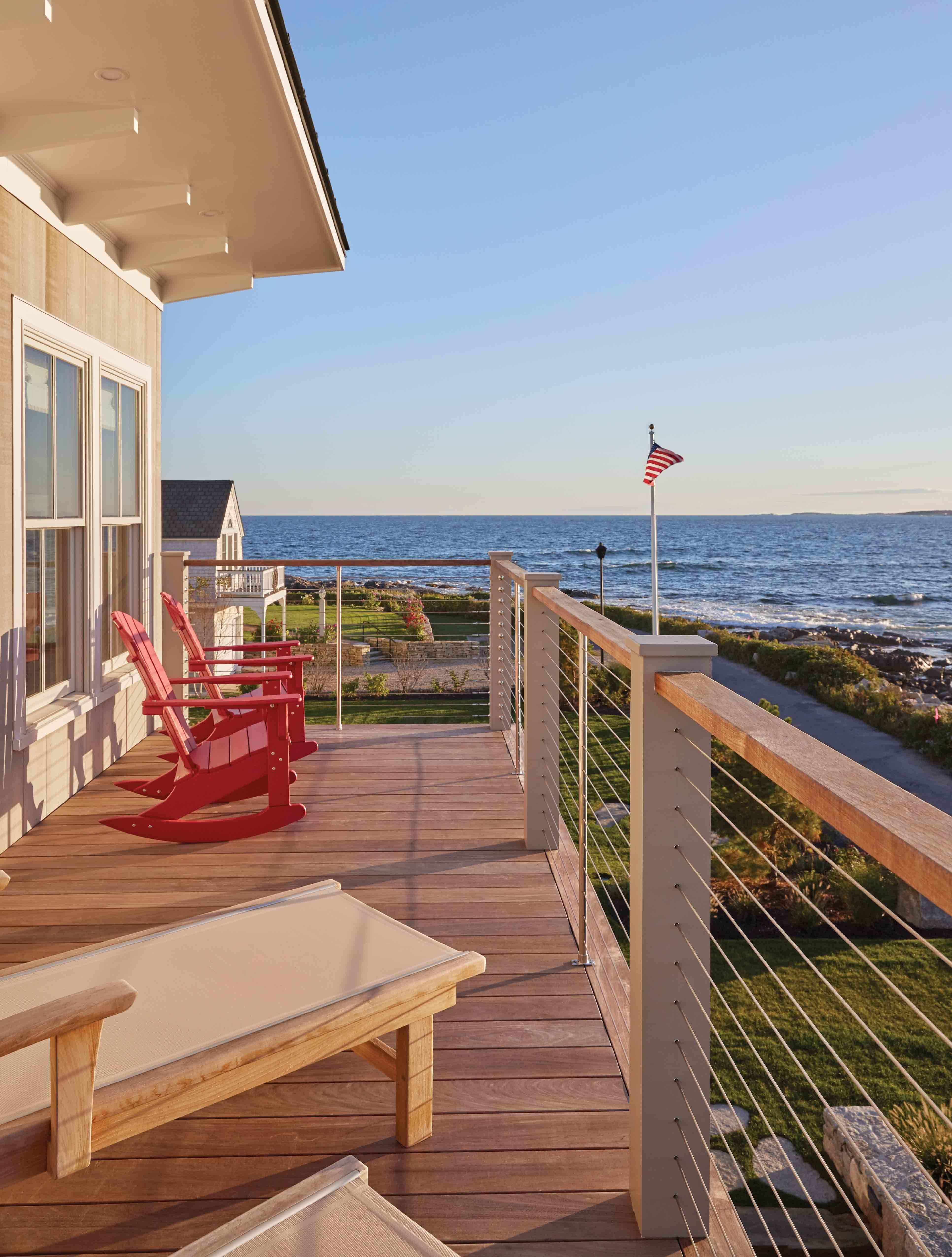 Building A Sense Of History Maine Home Design House Design Second Story Deck Guest House