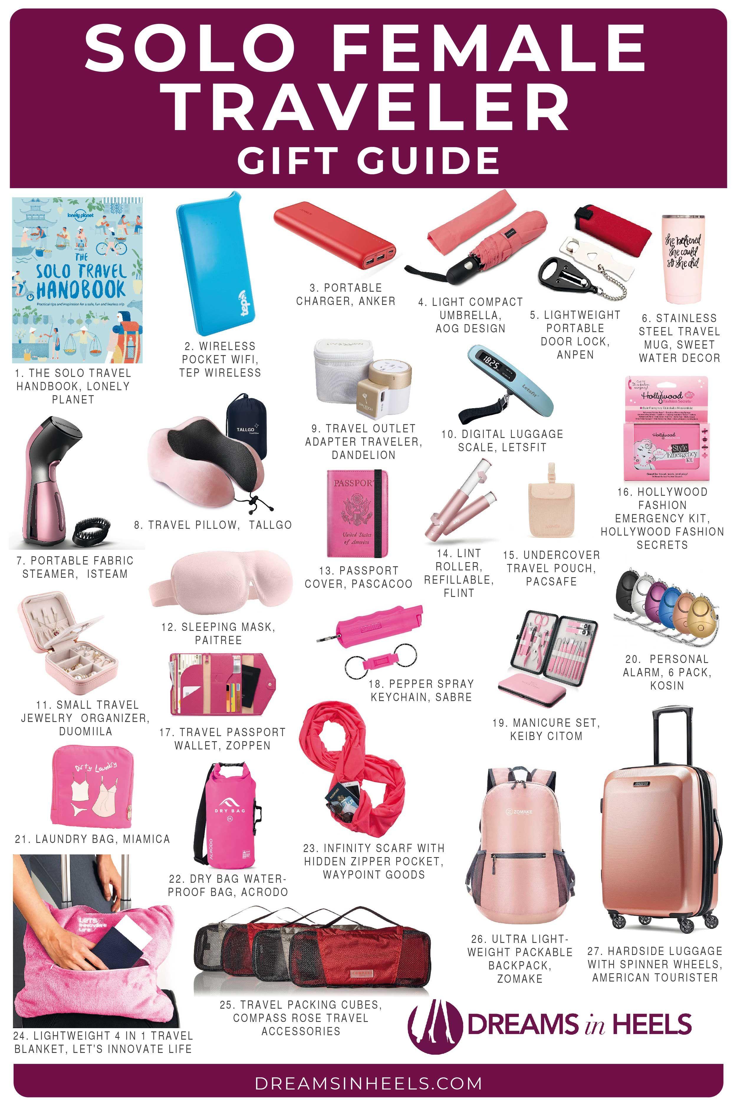 27 unique travel gifts for women traveling solo unique
