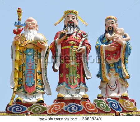 three chinese gods on the roof | Good Woman | Pinterest | Foto ...