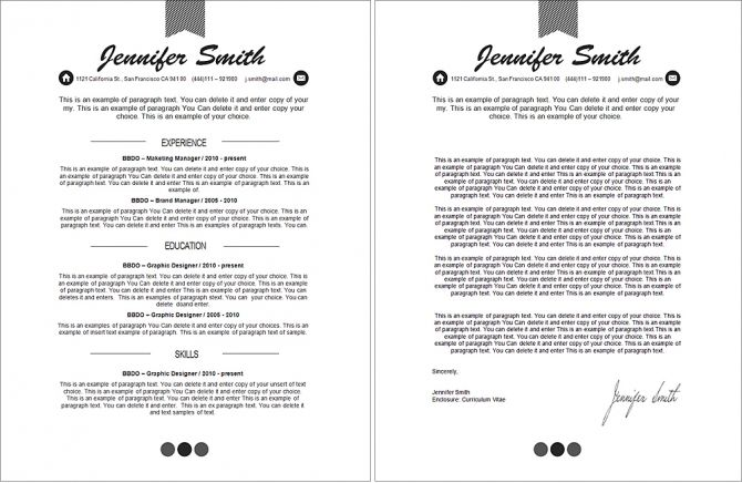Classic Resume Template -101040 - Premium line of Resume \ Cover - apple pages resume template