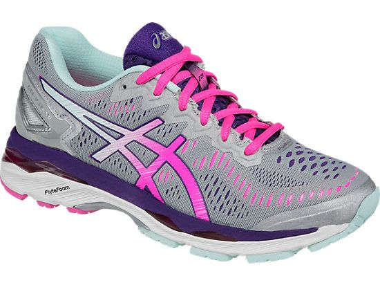 Gratificante Salvación neumático  The Asics Gel-Kayano 23 is made from form-fitting materials which allows  for a snug feel and an u… | Womens running shoes, Asics running shoes,  Running shoe reviews