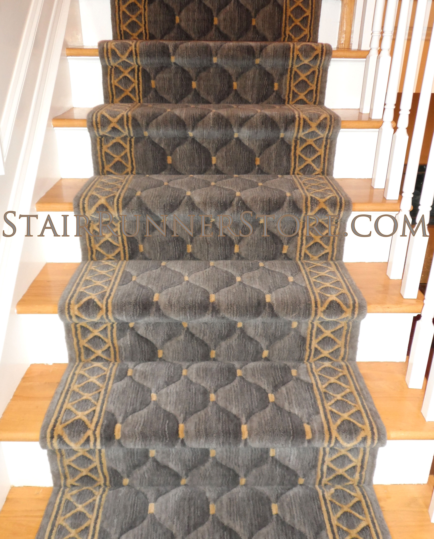 Straight Stair Runner Installations • Stair Runner Store Blog | Roll Runners For Stairs | Flooring | Carpet Stair Treads | Canyon Kazmir | Persian Garden | Area Rugs