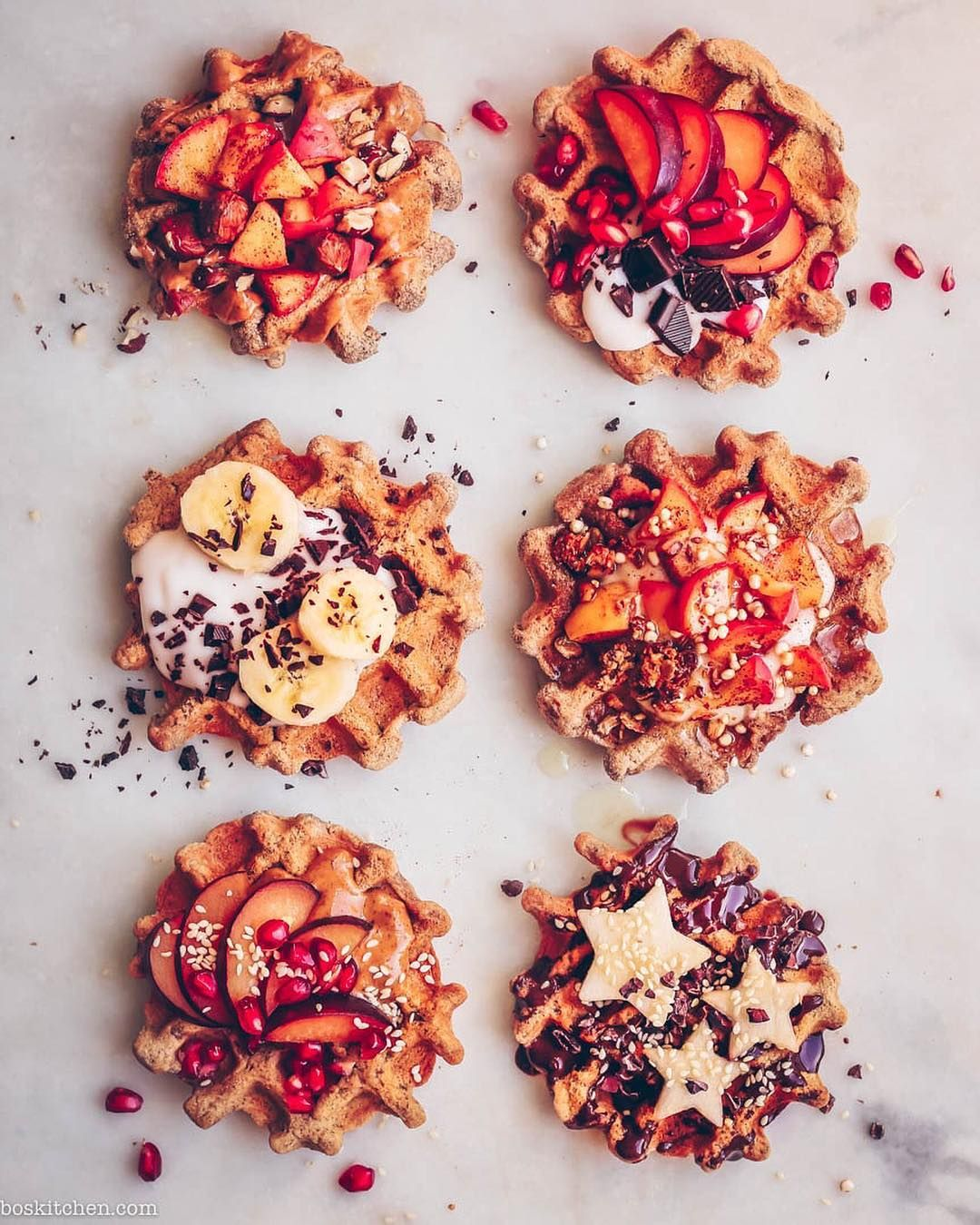 Pumpkin spice waffles 🍁🍂 to start Sunday Almond butter and