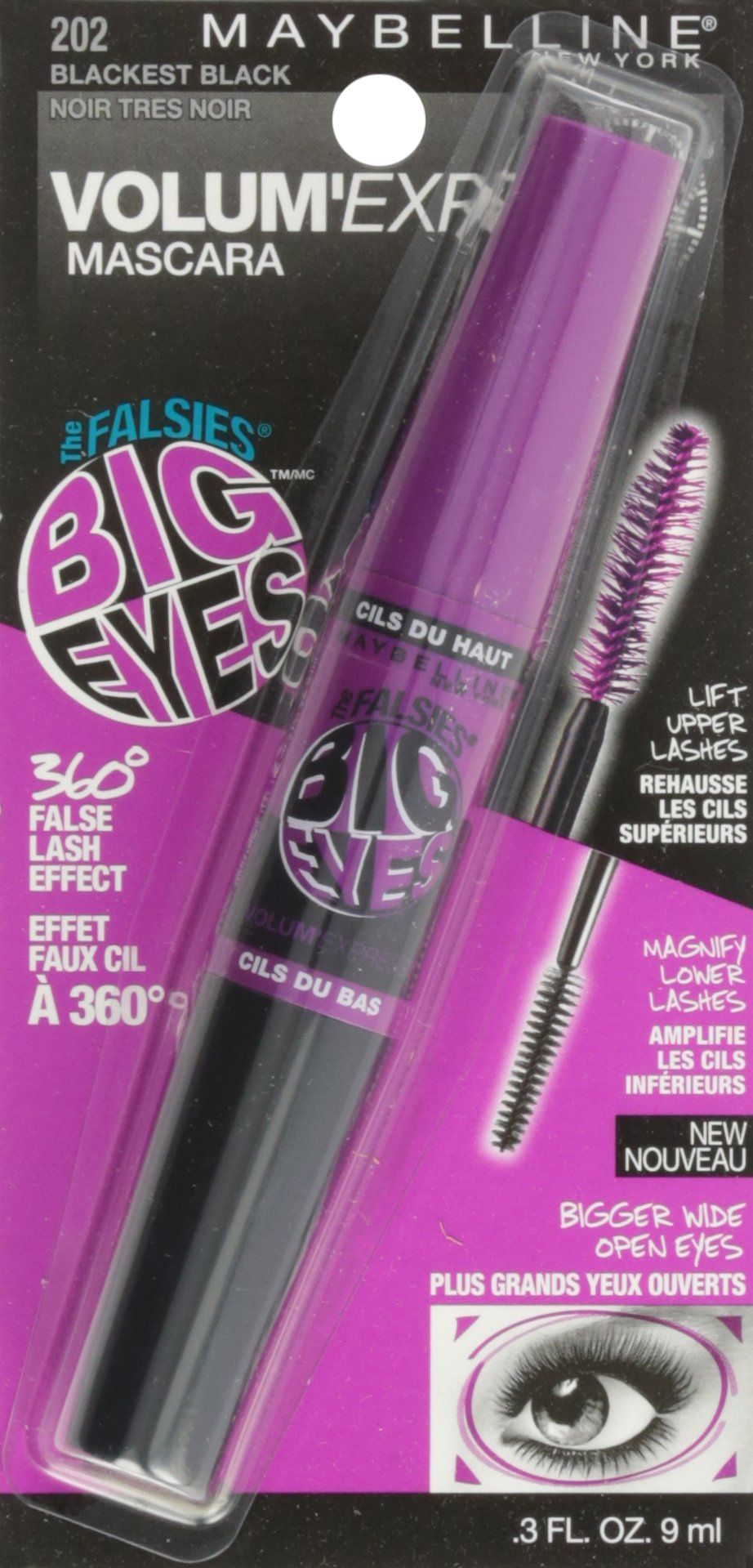 e21ce4776bf Maybelline Volum Express The Falsies Big Eyes Washable Mascara Blackest  Black 0.3 fl. oz. -- Be sure to check out this awesome product.