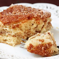 """pinner: """"This recipe said best coffee cake ever. My family and I thought I already made the best coffee cake but decided to try this. I made a pan of my coffee cake and this one for General Conference breakfast this morning. We call it """"Conference Cake"""" and it is our family tradition. My family recipe was quickly snubbed for this new one!!! Goodbye family recipe...:') ***As an important side note, we sprinkle chocolate chips over the top before baking!***"""""""