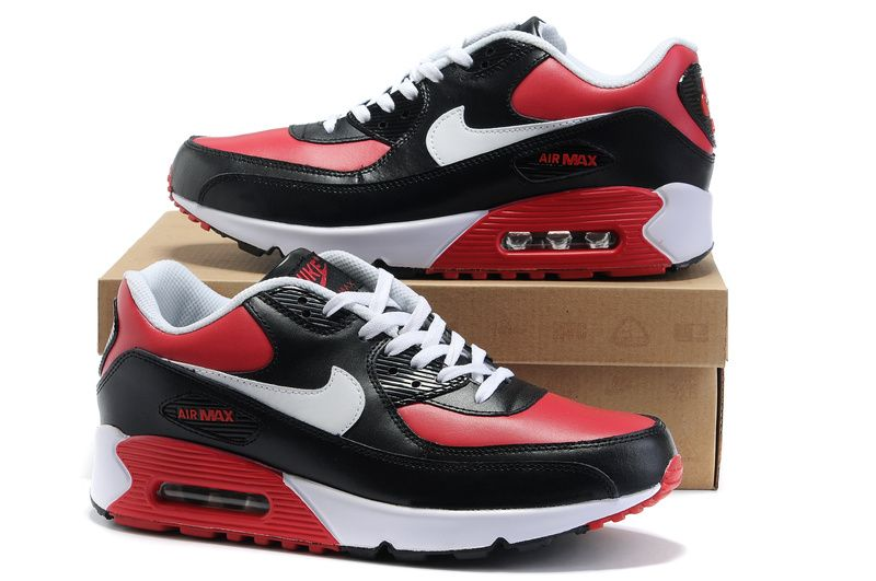 best service fdb8d 33829 Now Buy Online Nike Air Max 90 Mens Black White Red Save Up From Outlet  Store at Footlocker.