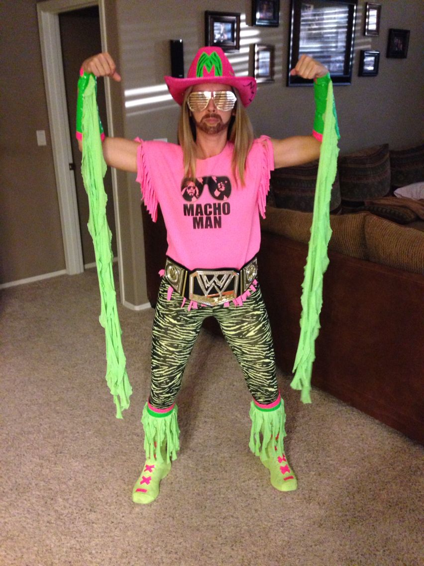e83b203502d Diy Macho Man Randy Savage wrestler costume.