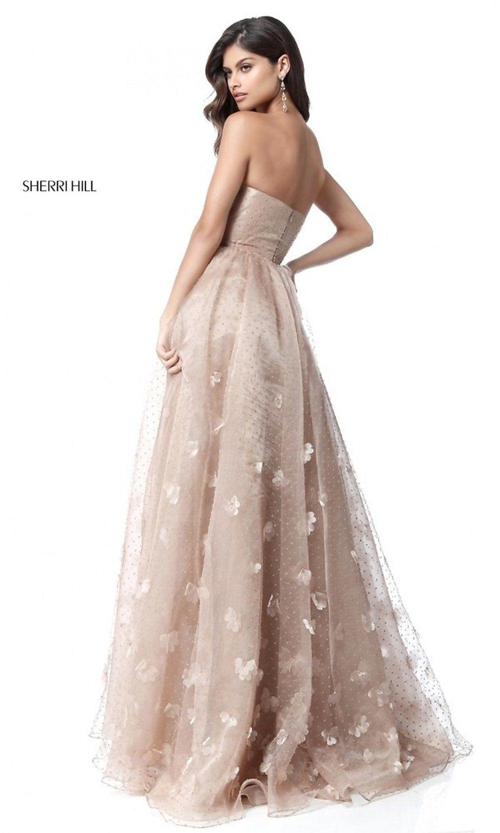 b5b6c40b4db Long Strapless Open Back Sherri Hill Prom Dress in 2019