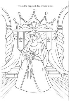 Ariel and Eric 2 | Ariel coloring pages, Mermaid coloring ...