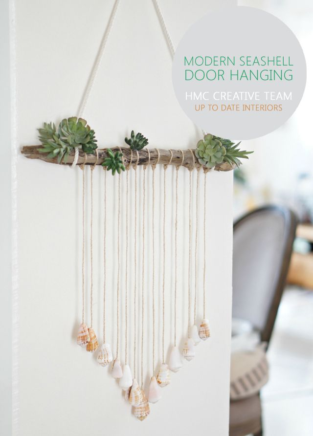 Photo of Modern Seashell Door Hanging – Home Made By Carmona