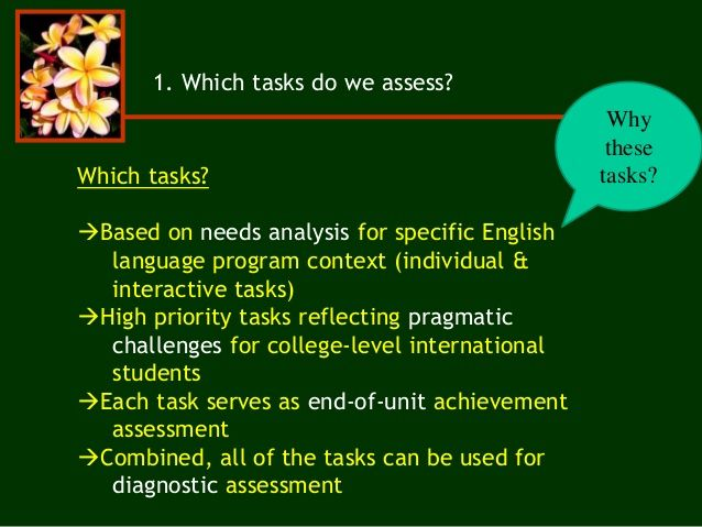 How do we assess task-based performance? with Dr John Norris - needs analysis