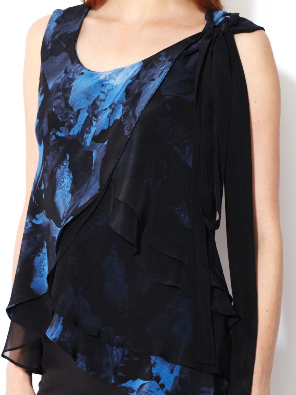Robert Rodriguez   Flower Print Silk Top