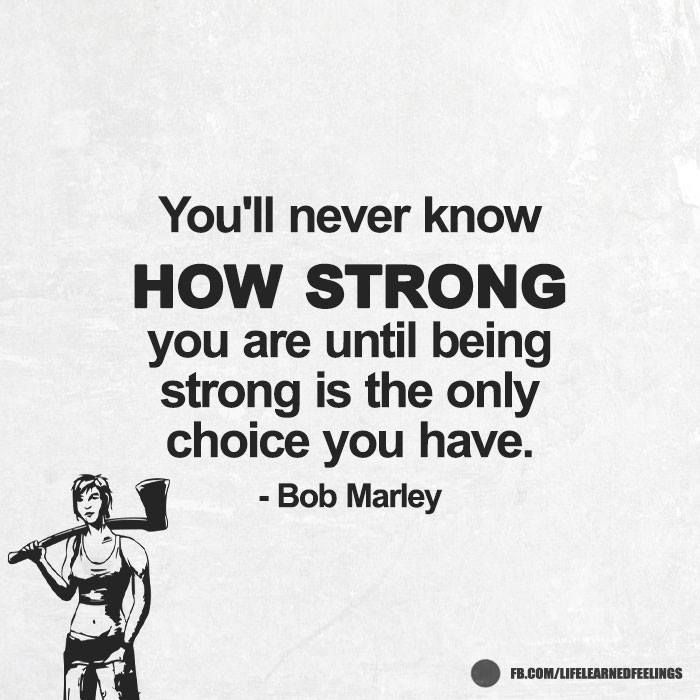 Catchy Quotes Youll Never Know How Strong You Are Until Being