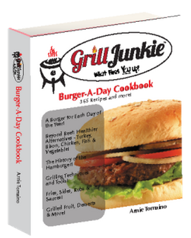 Love to grill? Have a passion for the irresistible, mouth-watering, iconic American burger? Then the GrillJunkie™ Burger-a-Day Cookbook is for you! This unique cookbook, chock-filled with succulent recipes, essential tips and techniques and a delicious history of the hamburger, is focused specifically on the outdoor grilling addict …. a GrillJunkie! And especially those who love hamburgers!