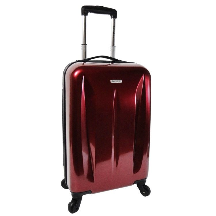 Samsonite Glossy Red Polycarbonate Lightweight Construction ...