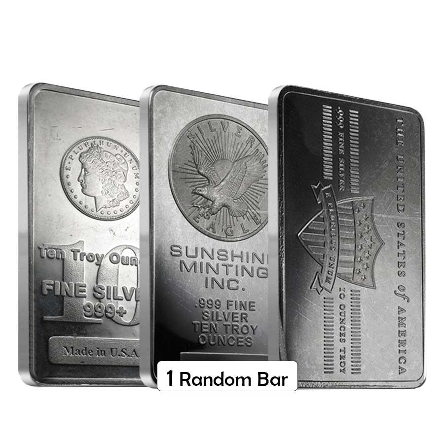 10 Oz Generic Silver Bar 999 Fine Ebay Silver Bars Silver Eagle Coins Silver Bullion