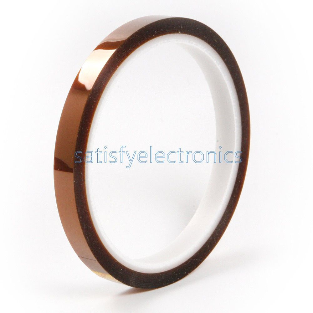 New 6mm X 33m 100ft Tape BGA High Temperature Heat Resistant Polyimide