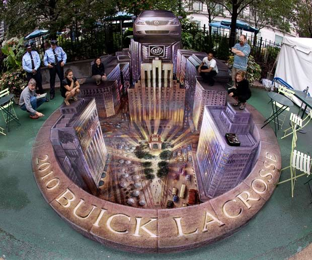 3-dimensional illusions of Kurt Wenner | Curious, Funny Photos / Pictures
